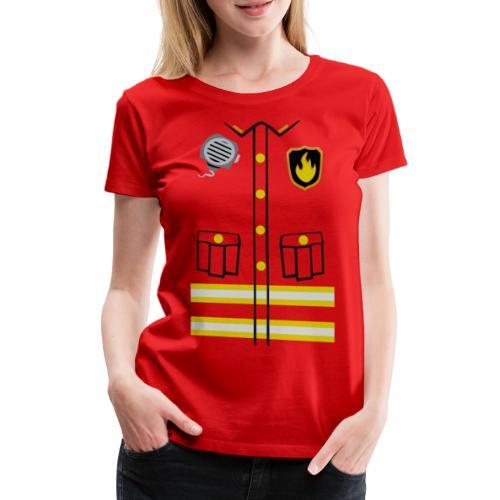 Firefighter Costume - Women's Premium T-Shirt
