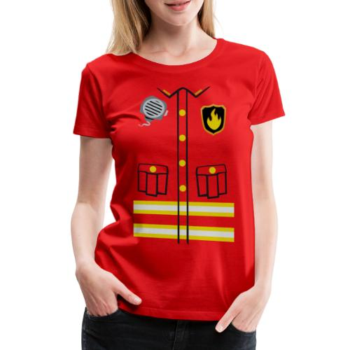 Firefighter Costume - Women's Premium T-Shirt