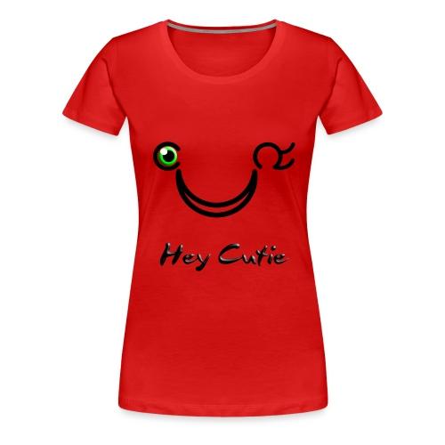 Hey Cutie Green Eye Wink - Women's Premium T-Shirt