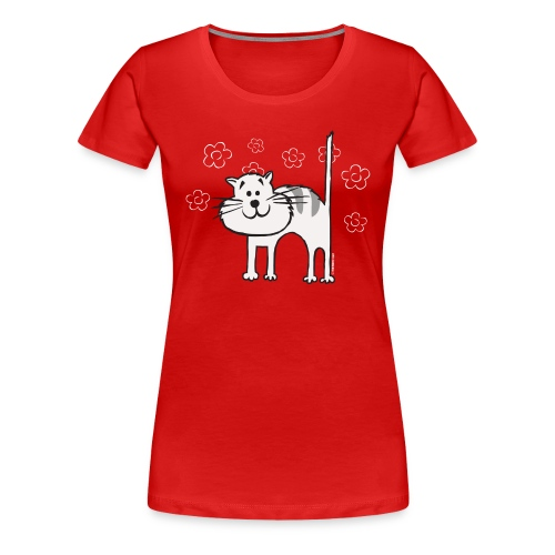 10-1C CAT, KISSA Textiles and Gift Products - Naisten premium t-paita