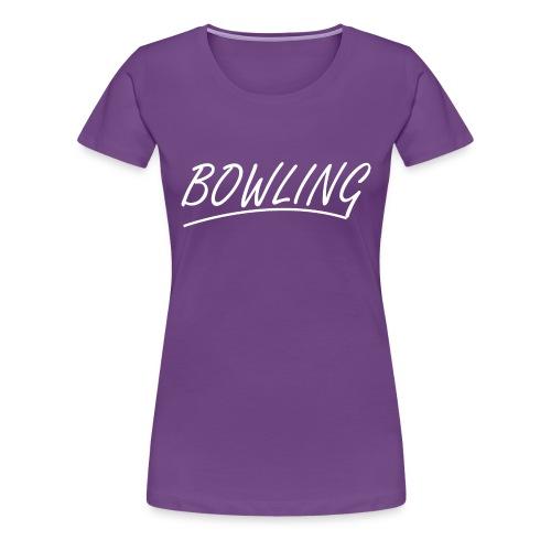 Bowling souligné - T-shirt Premium Femme