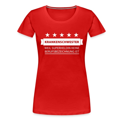 Krankenschwester (dh) - Frauen Premium T-Shirt