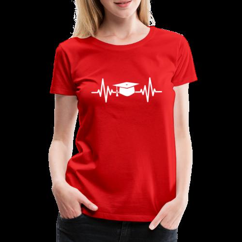 Doktorhut Herzschlag EKG Medizin Arzt Geschenk - Frauen Premium T-Shirt