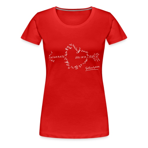 calligramme_fleche_saignante - T-shirt Premium Femme
