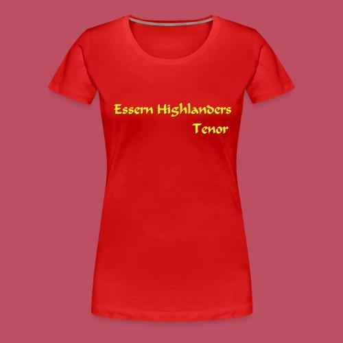 Essern_Schrift_gelb - Frauen Premium T-Shirt