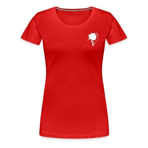 BloodSplatterWeiss - Frauen Premium T-Shirt