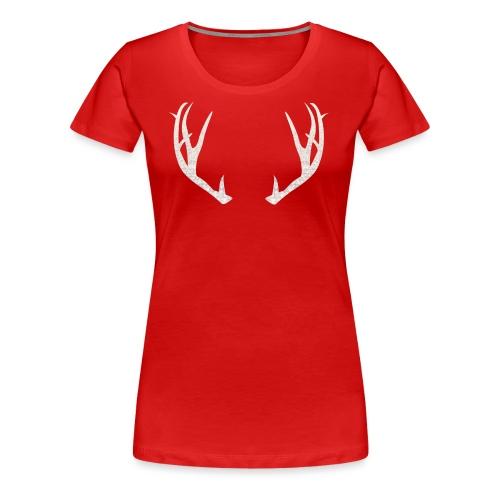 Jäiset poronsarvet - Naisten premium t-paita