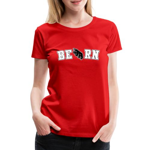 Berncity Bear Typo 02 white - Frauen Premium T-Shirt