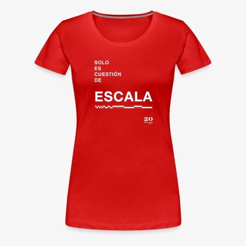 escala - Camiseta premium mujer