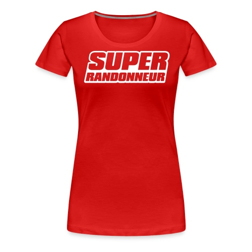 Super Randonneur Womens T-Shirt Orange Logo - Women's Premium T-Shirt