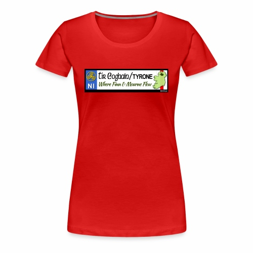 TYRONE, NORTHERN IRELAND licence plate tags decal - Women's Premium T-Shirt