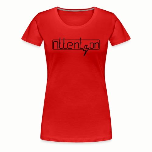 attention - Vrouwen Premium T-shirt