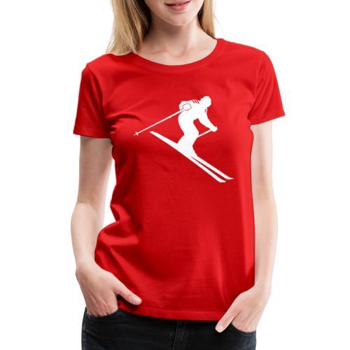 cool ski downhill design - Vrouwen Premium T-shirt