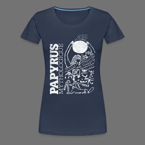 Papyrus Mythologique (valkoinen) - Naisten premium t-paita