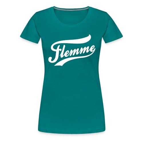 FlemmeBlanc png - T-shirt Premium Femme