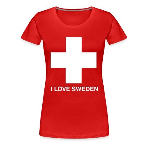 I LOVE SWEDEN - Frauen Premium T-Shirt