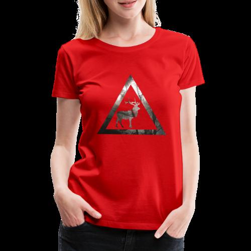 Mystical Forest Deer Triangle - Frauen Premium T-Shirt