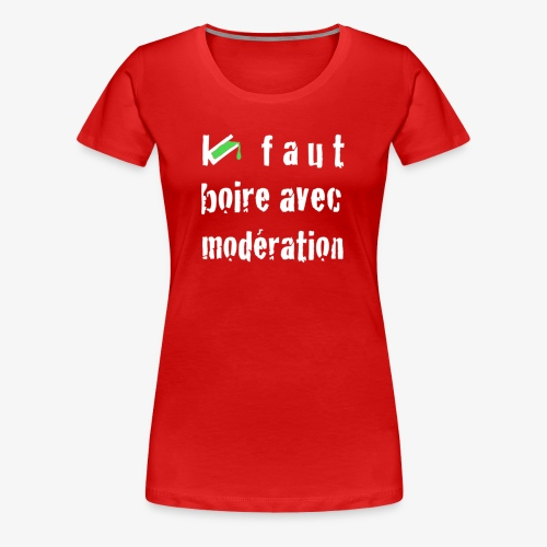 test t shirt FACE BLANC - T-shirt Premium Femme