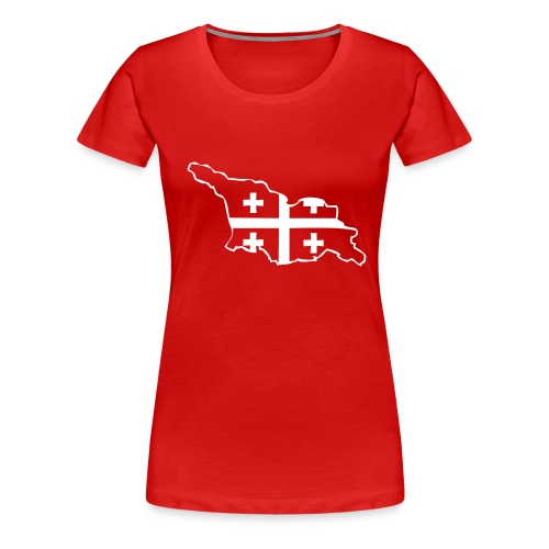 Landkarte mit Flagge - Frauen Premium T-Shirt