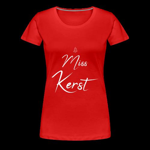 Miss Kerst - Vrouwen Premium T-shirt
