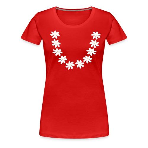 collier tiare couronne sans feuille Tahiti - T-shirt Premium Femme