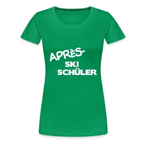Après Ski Schüler, Winter Shirt - Frauen Premium T-Shirt