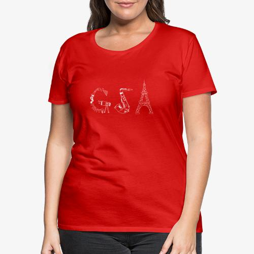Das neue SV-Design in Weiß! - Frauen Premium T-Shirt