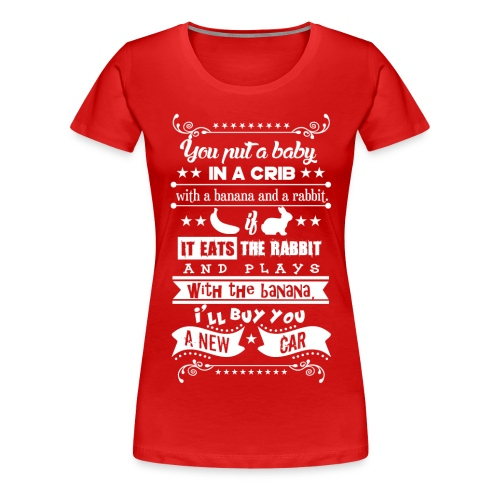 Baby in a Crib - Frauen Premium T-Shirt