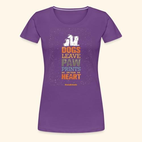 PAWPRINTONHEART - Maglietta Premium da donna