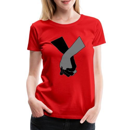Holding Hands - Frauen Premium T-Shirt