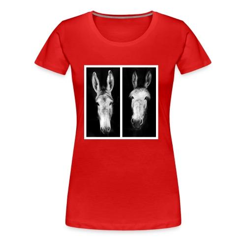 Eselköpfe-Esel - Frauen Premium T-Shirt