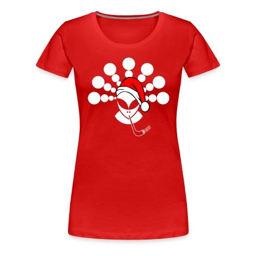 Christmas Alien White - Women's Premium T-Shirt