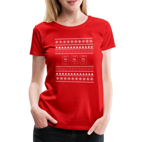 Ugly Christmas Science T-Shirt - Weihnachten Nerd - Frauen Premium T-Shirt