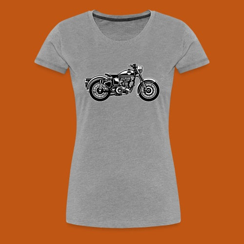 Motorrad / Classic Motorcycle 04_schwarz weiß - Frauen Premium T-Shirt