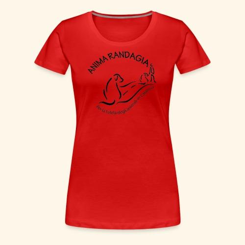 Logo Anima Randagia Nero - Maglietta Premium da donna