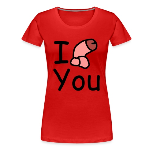 I dong you pillow - Women's Premium T-Shirt