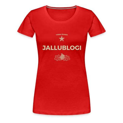 Jallublogi muki musta - Naisten premium t-paita