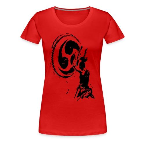 Odaiko Trommlerin - Frauen Premium T-Shirt