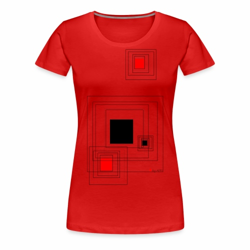 geometric design - Frauen Premium T-Shirt