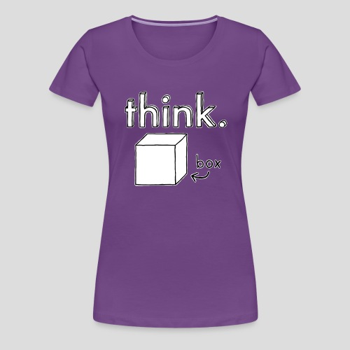 Think Outside The Box Illustration - Women's Premium T-Shirt