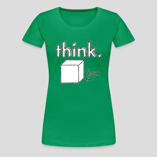 Think Outside The Box Illustration - Women's Premium T-Shirt
