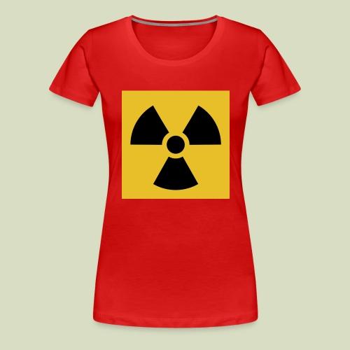 Radiation warning - Naisten premium t-paita