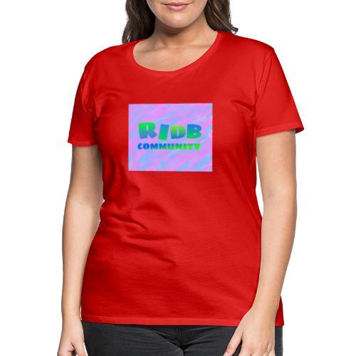 RIDB community - Vrouwen Premium T-shirt