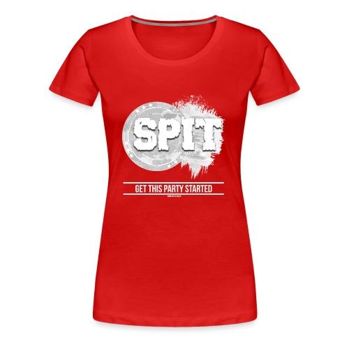 SPIT LOGO mit claim ohne Hintergrund - Frauen Premium T-Shirt