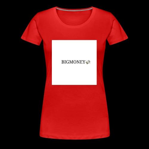 BigMoney hvit stor logo - Premium T-skjorte for kvinner