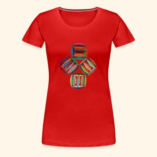 square2square - Vrouwen Premium T-shirt