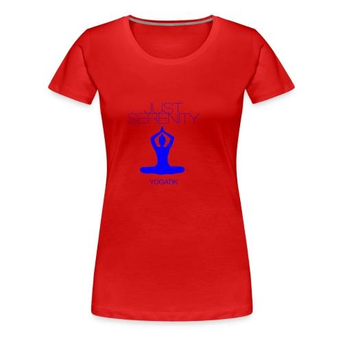 yogatyk blue - T-shirt Premium Femme