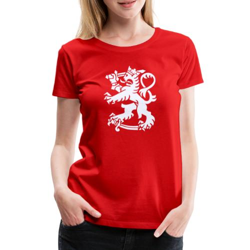 Valkoinen leijona - Naisten premium t-paita