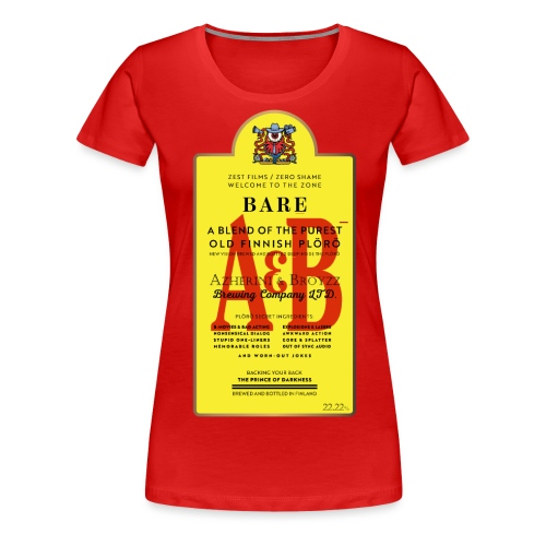 A&B • BOTTLE (2 print: front & back) - Naisten premium t-paita
