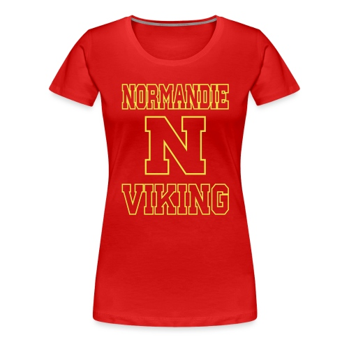 Normandie Viking Def jaune - T-shirt Premium Femme